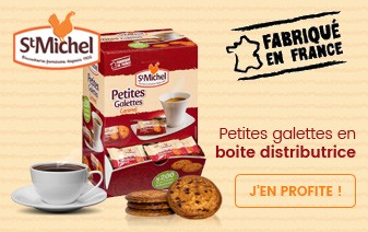 Biscuits Saint Michel en boîte distributrice