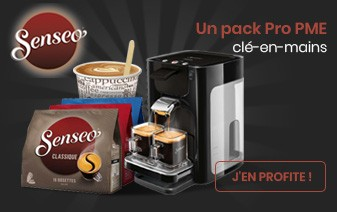 Pack Café Entreprise : Machine Senseo Quadrante Philips - 400 boissons